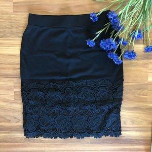 🔥Black lace skirt